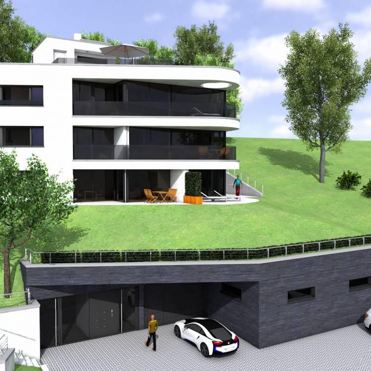 Errichtung eines Mehrfamilienhauses mit Tiefgarage